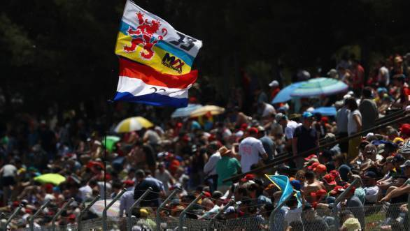 Fans out in support of Verstappen at the Spanish GP