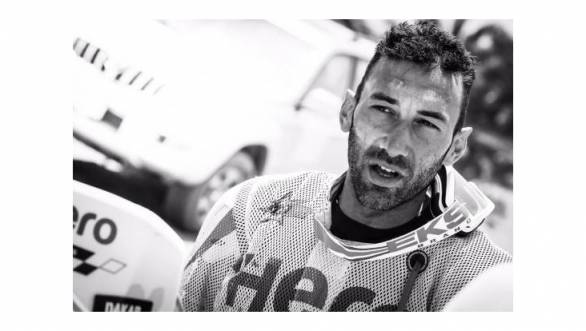 Joaquim Rodrigues after the first half of the marathon Stage 3