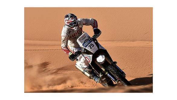 Joaquim 'J-Rod' Rodrigues on Stage 2 of the 2016 Merzouga Rally