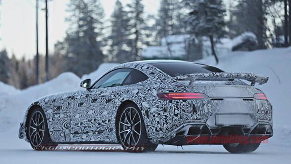 A new carbon fibre rear wing will help improve aerodynamics.