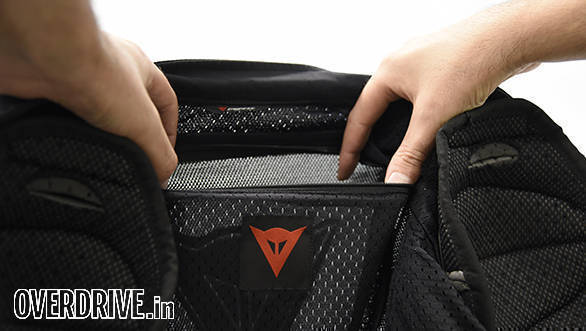 The back protector pocket ships empty. You'll have to buy an optional back protector