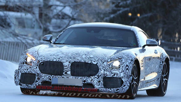 Disguised AMG GT R caught testing at the Arctic Circle.