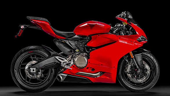 Ducati 959 Panigale red RHS studio shot