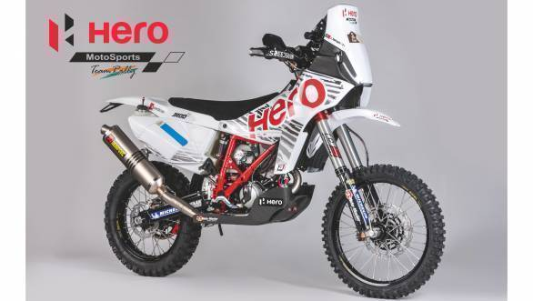 The Hero Moto Team Rally Speedbrain 450 will be used in the company's foray into off-road racing