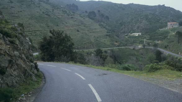 The site of Toivonen's fatal crash at the 1986 Tour de Corse