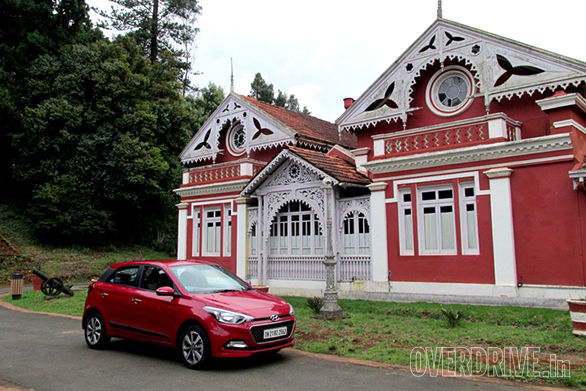 Hyundai i20 Elite at the Fernhill Palace Ooty