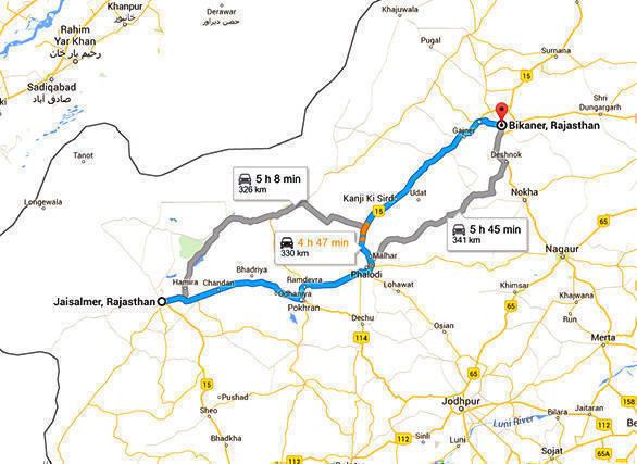 Jaisalmer to Bikaner