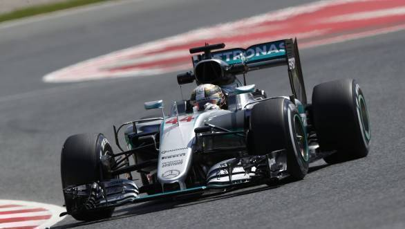 Lewis Hamilton will start the 2016 Spanish Grand Prix on pole position
