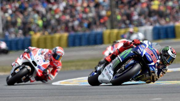 Jorge Lorenzo leads the way at Le Mans at the 2016 French MotoGP round