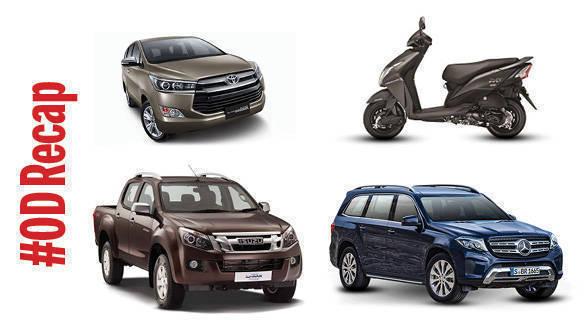 #ODRecap: Mercedes-Benz GLS SUV to arrive soon, 2016 Honda Dio and Isuzu D-Max V-Cross launched