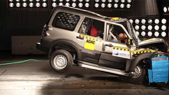 2016 Mahindra Scorpio S2 variant offers poor protection for adult and child occupants, Global NCAP