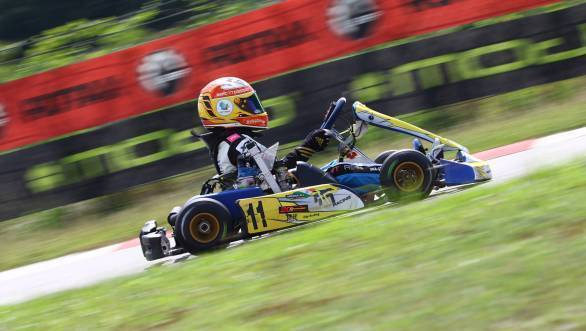 Shahan Ali Mohsin finished fourth at the final race of the Sepang Round of the 2016 Asia Max Karting Championship