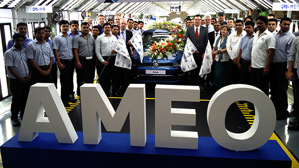 Volkswagen rolls out the first Ameo from Pune plant
