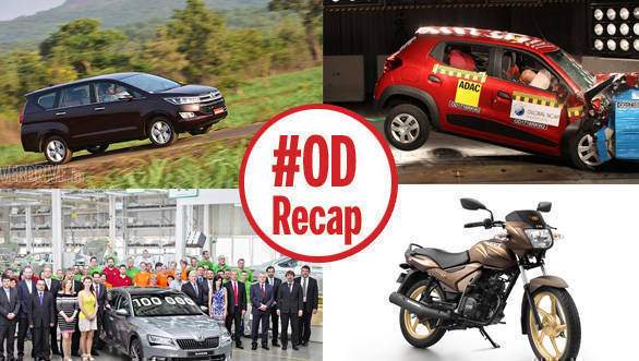 #ODRecap: Indian cars get zero rating in Global NCAP test, Toyota Innova Crysta bookings reach 15,000, and more