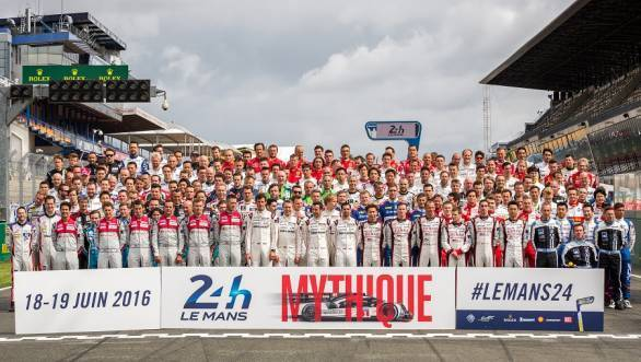 The brave men and women who will compete in the 24 Hours of Le Mans in 2016. Hats off to them. We know we couldn't do it.