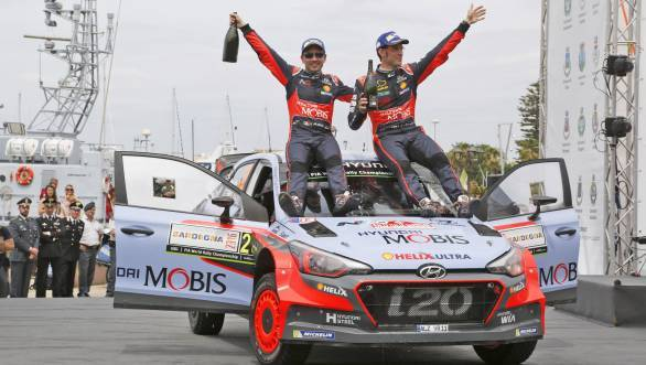 Thierry Neuville's win for Hyundai at Rally Sardinia makes him the fifth different winner in the 2016 World Rally Championship