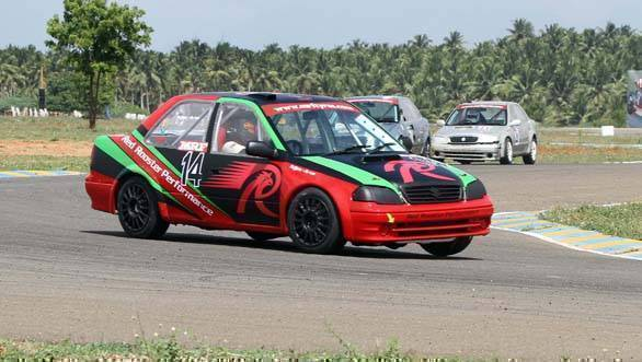 Arjun Narendran (14), winner of all three races in the Indian Touring Cars class
