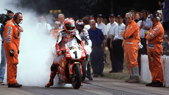 Carl Fogarty at a previous Goodwood Festival of Speed