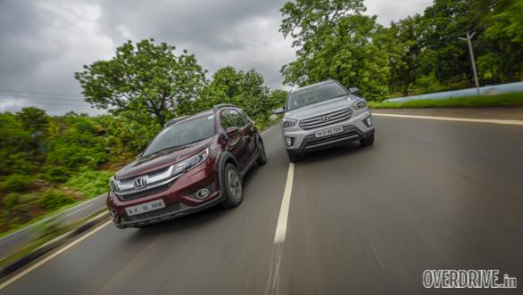 Comparo: Honda BR-V Petrol CVT vs Hyundai Creta Petrol AT