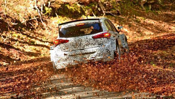 Dani Sordo in the i20 R5 at Rally Mexico last year