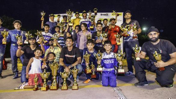 All the winners of the Ludhiana Round of the 2016 JK Tyre IndiKarting National Series