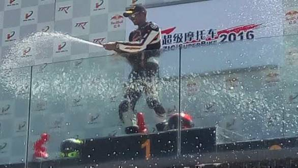 Rajini Krishnan wins on China SBK debut