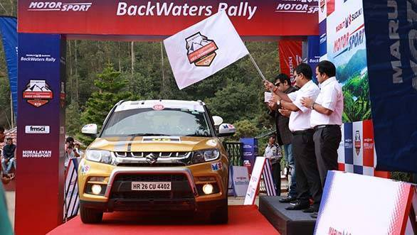 Maruti Suzuki Backewaters Rally - Flag Off (2)