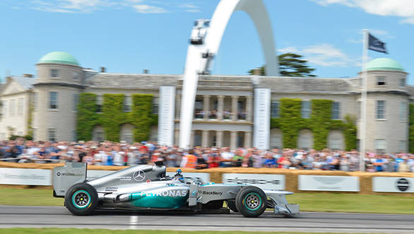 Mercedes F1 at Goodwood Festival of Speed