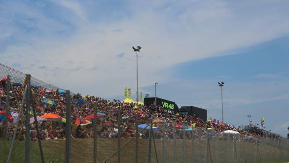 Packed grandstands and people sunning themselves - just another race weekend
