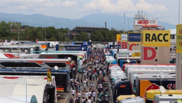 The paddock - the place where the racers, the mechanics and the autograph hunters all collide