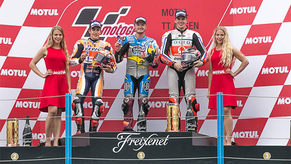 MotoGP TT Assen Podium - Jack Miller, Marc Marquez, Scott Redding_LOW