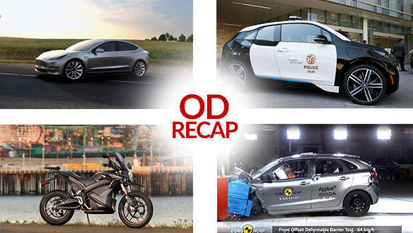 ODRecap: LAPD gets 100 BMW i3, Zero offers special edition DSR and more