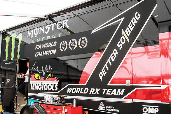 The number 1 on the side of the truck says it all. And it's to keep this number within the team that the mechanics and Solberg work so very hard, not just at the race weekends, but every single day.