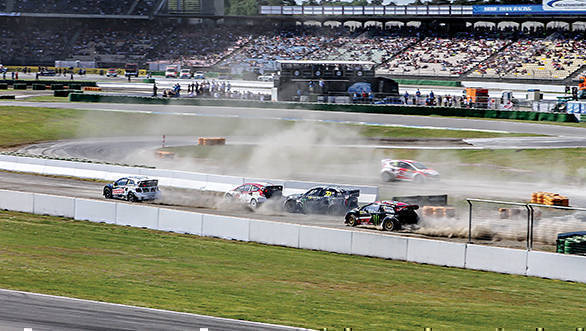 Chaos in the semi finals at Hockenheim, with Solberg chasing after the pack ahead, to make it to the final