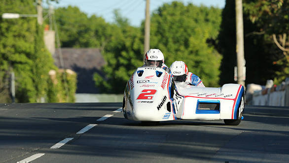 Ben Birchall and Tom Birchall (LCR Honda - IEG Racing) at Ballagarey during qualifying for Monster Energy Isle of Man TT