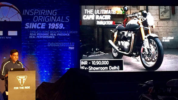 2016 Triumph Thruxton R launched in India at Rs 10.90 lakh