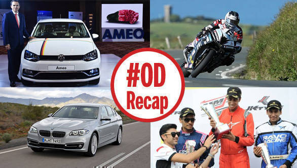 ODRecap: Volkswagen Ameo petrol launched, Michael Dunlop sets new record, and more