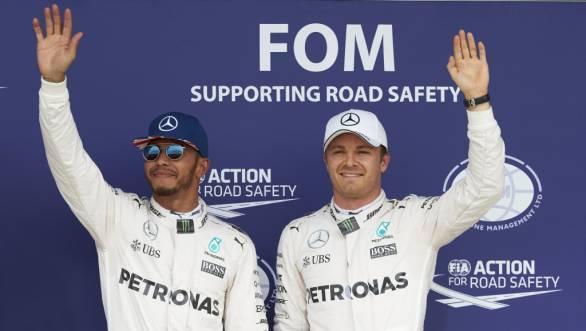 F1 2016: Hamilton on pole, Rosberg second at British GP qualifying