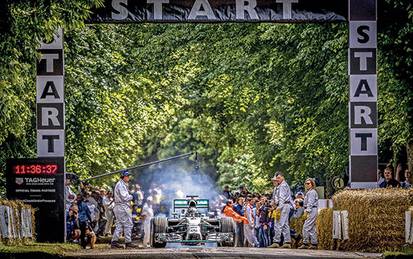 Nico Rosberg wowed the crowds in the Mercedes-Benz F1 W05 Hybrid from 2014