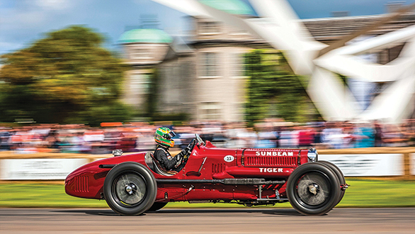 Here's young Jehan Daruvala making his Goodwood FOS debut in the Sunbeam 'Tiger' from 1926