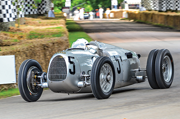The Auto Union Type C piloted by Nick Mason at the 2016 FOS