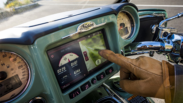 Indian Motorcycle touchscreen infotainment system (4)
