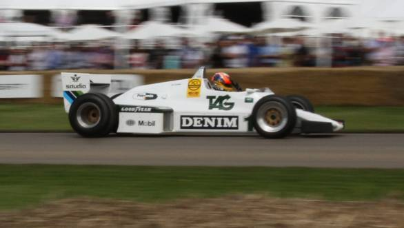 Here's Karun in the Williams FW08 that won Keke Rosberg the F1 title in 1982