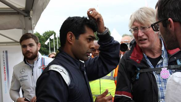 Here's Chandhok talking to some fans at the 2016 Goodwood Festival of Speed. We nabbed him for long enough to get his list of top 10 cars from this year's FOS