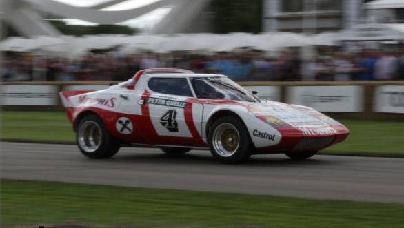 Here's Alex Wurz driving his father's ERC title winning Lancia Stratos