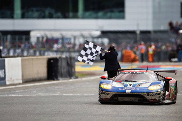 The No.68 Ford GT that won the GTE Pro Class, amidst plenty of BoP controversy