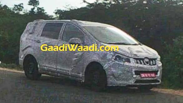 Mahindra TUV500 MPV spotted testing in India