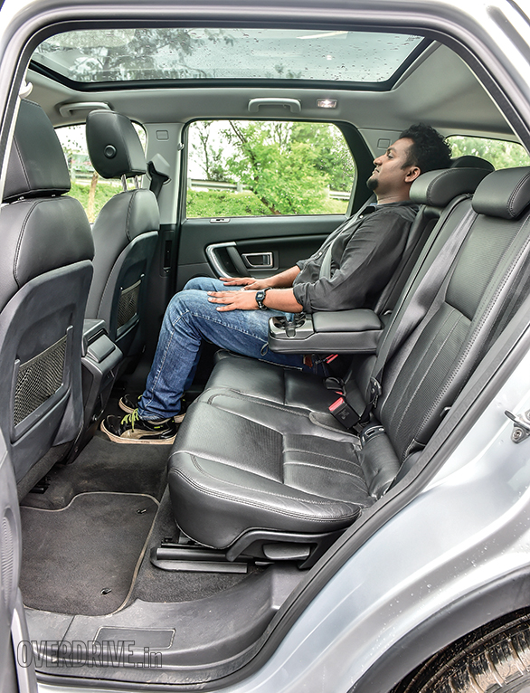 Discovery Sport offers  ample rear knee room and  gets more comfortable seats