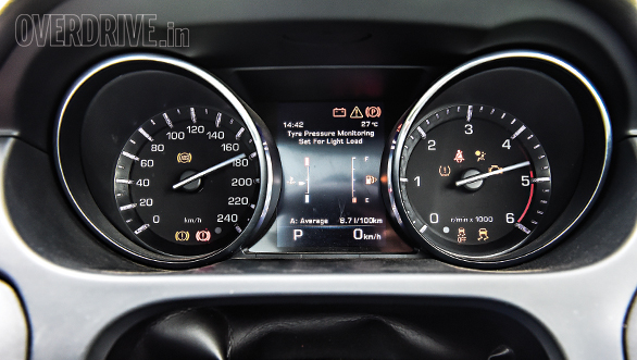 Controls are placed well and instrument cluster is clear to read