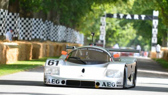 Here's a better photo of the Sauber C9 at Goodwood from back in 2012